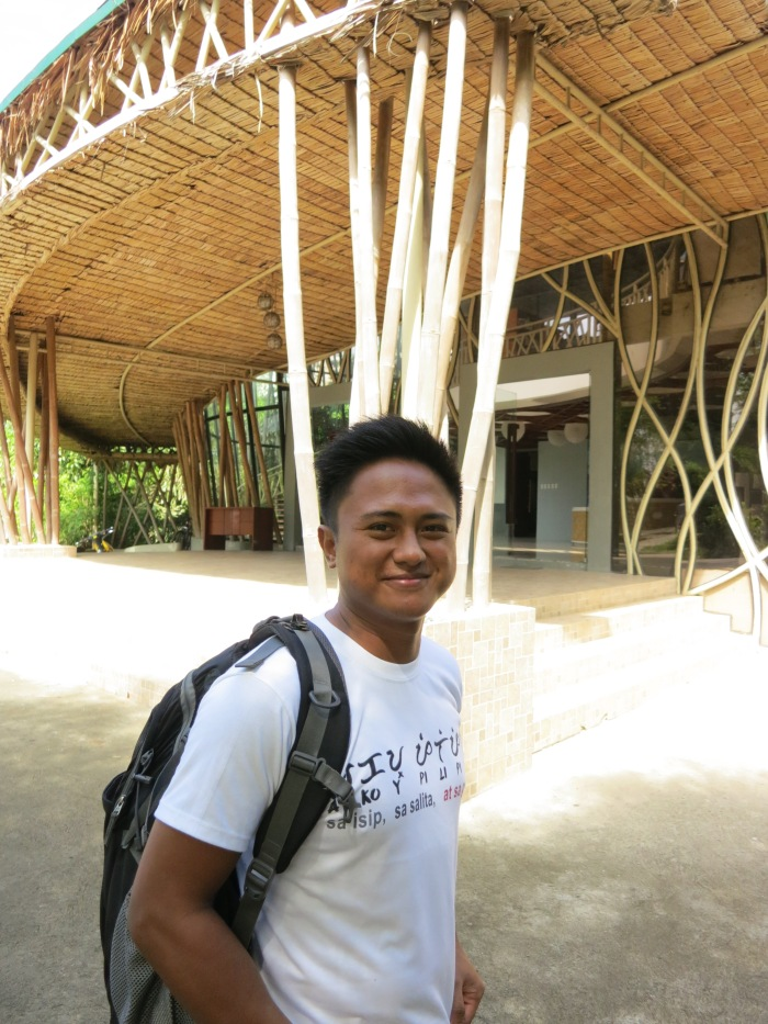 Aaron Salamat with his favorite building