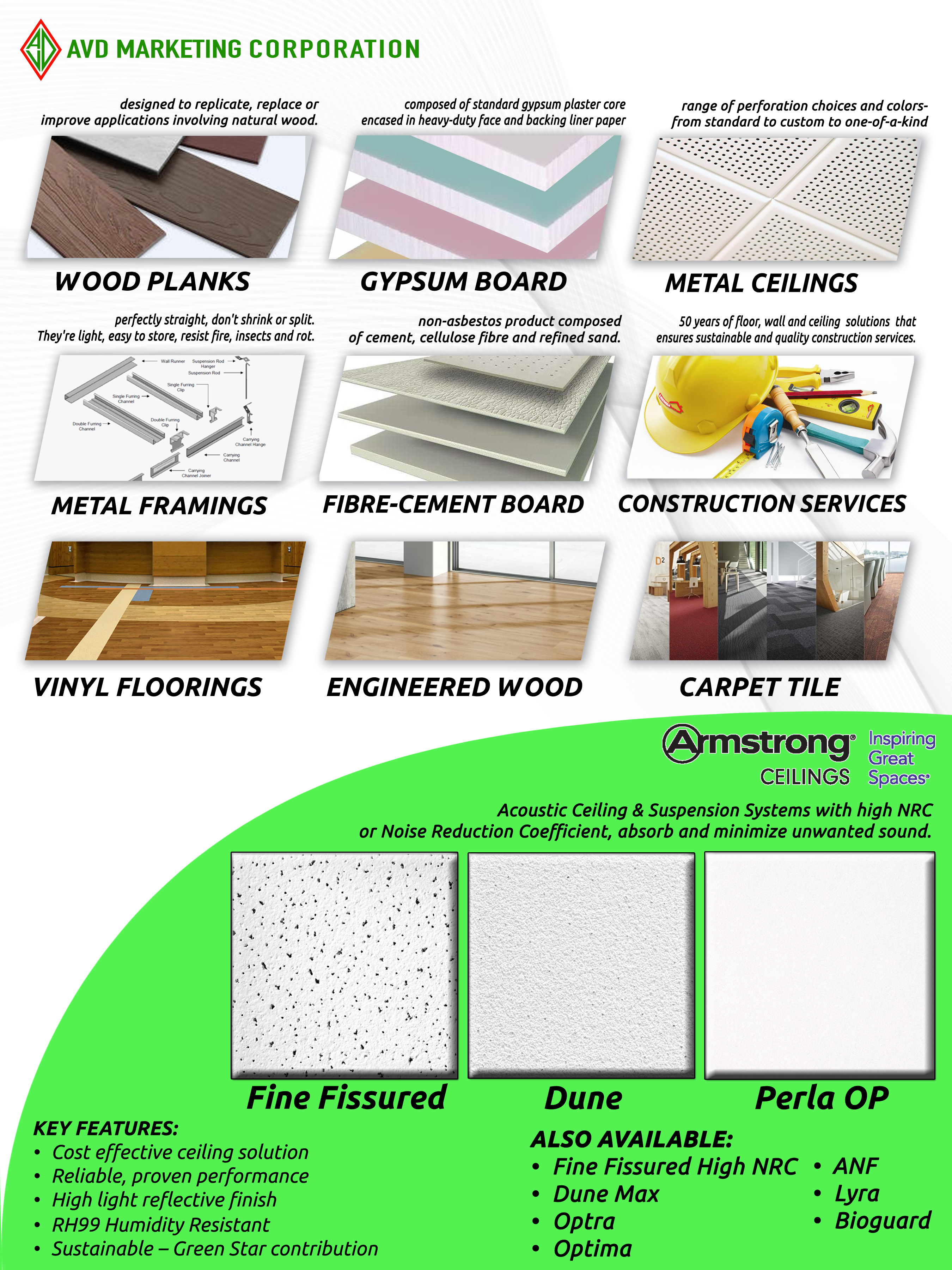 Avd Marketing Sustainable Construction Materials