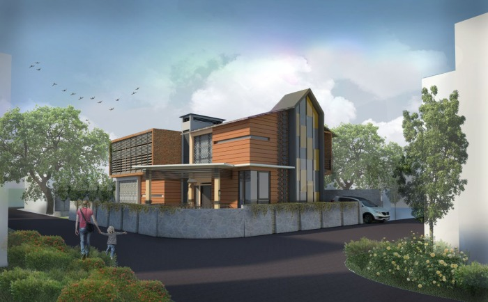 3 Modern Betawi House in Jakarta, Indonesia. Mutiah's competition entry for Indocement Award, 2015.jpg