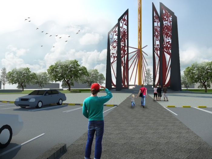 4 Mutiah's proposed design for Palangka Raya Monument, Central Kalimantan, Indonesia.jpg